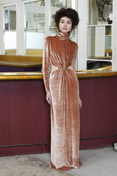 """Tia Cibani delved into the work of Scottish artist Margaret Macdonald Mackintosh, channeling ideas of """"faded grandeur and dim opulence"""" in her romantic fall collection. [Courtesy Photo]"""