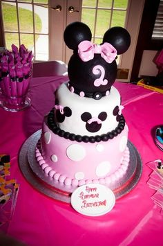 Photo 13 of 13: Minnie Mouse and Zebra Print / Birthday Bethenny Turns 2 | Catch My Party