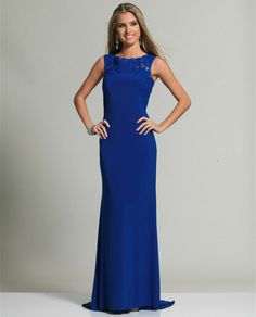 Dave & Johnny 347 High Back Illusion Dress $322