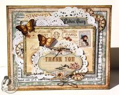 A Ladies' Diary thank you card Tara Orr Graphic 45