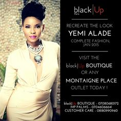 Re-create Yemi Alade's look for the Complete Fashion January cover, come into the Blackup Boutique or a MontaignePlace Outlet Today  Artist - #EgoOsadebe  Step 1:  Complexion  Primer: 8 hour Correcting Primer: Using a primer before foundation is key to having a flawless finish that lasts all day. Apply the Primer to your t-zone being your fore head, nose, and chin.  Foundation: Full Coverage Cream Foundation – HC06:  With a foundation brush, apply your foundation with even horizontal strokes…
