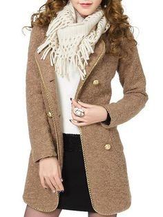 Appealing Lapel With Pockets Plain Overcoats Only $28.95 USD More info...