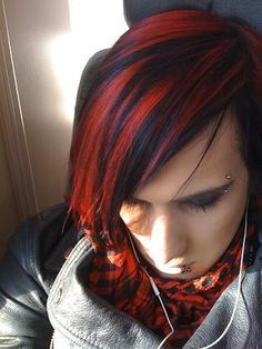 red and black hair