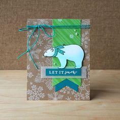 Let it Snow Polar Bear by Jayne Nelson #heroarts