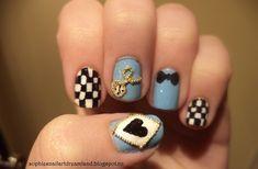 Top 10 Nail Art Ideas Inspired By Disney Princesses --- Alice in Wonderland