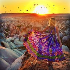 """Summer Turkey Trip Plans: Watching the sun rise over Cappadocia, along with hundreds of hot air balloons. I stayed in nearby Ortahisar at…"""""""