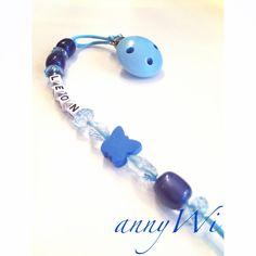 Schnuller schnullerkette Baby blau Buchstaben Perlen diy