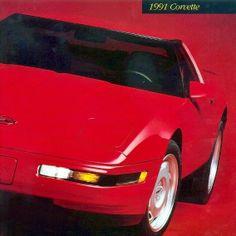 CORVETTE 1991 - DEALER BOOK BROCHURE - L98 CHEVROLET - C4 350 - MINT COND NOS
