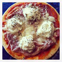 Prosciutto Pita Pizza with Ricotta