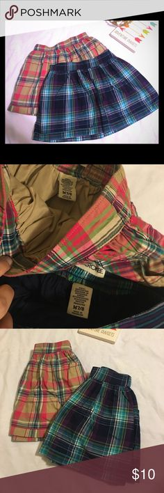 Plaid Skirts Girls 7/8 Both girls size 7/8. Both were worn once and in excellent condition. Good for all year long. Wear in the Summer or even the Winter with some leggings. Both pairs are included. Cherokee Bottoms Skirts