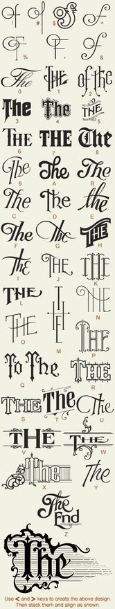 "Art of penmanship/handwriting / ""the"" iterations type"