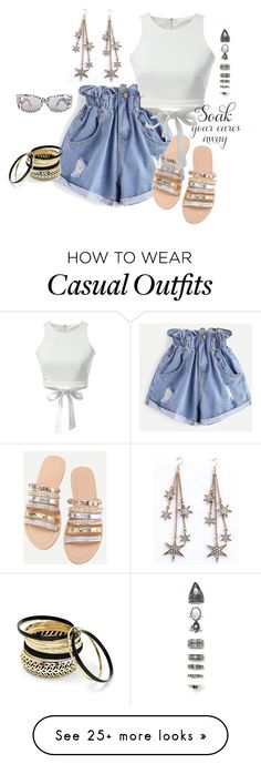 """summer casual"" by kloeyblue on Polyvore featuring WithChic, Nasty Gal and Venus"