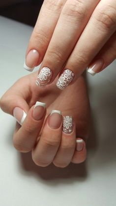 today we are here sharing and talking about the lace nail art ideas. Lace Nail Design, Lace Nail Art, Lace Nails, Bride Nails, Wedding Nails, French Nails, Colorful Nail Designs, Nail Art Designs, Sugar Nails