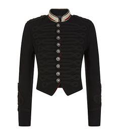 Polo Ralph Lauren Cropped Officer\u0027s Jacket available at harrods.com. Shop  women\u0027s designer fashion