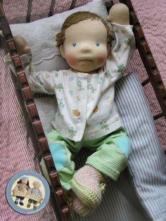 Lalka szmaciana niemowlaczek Lalinda