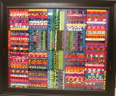 Each student decorates one lollipop stick and   then they are all combined to form an artwork.