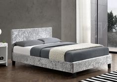 * Sale * Birlea Berlin Velvet Bed Frame From £120 Free Next Day Delivery
