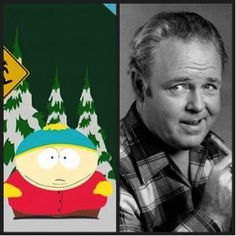 Top 10 Real-Life Inspirations for Famous Animated Characters - The chauvinistic Archie Bunker was the biggest inspiration for 8-year-old foul-mouthed Eric Cartman.