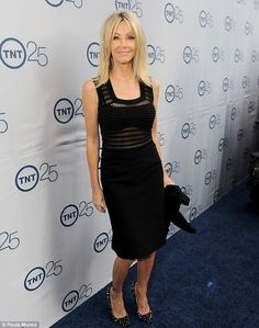 Amazing: Heather Locklear showed off the results of her diet at the TNT 25th Anniversary party in Beverly Hills on Wednesday night