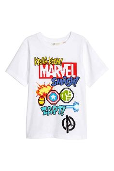 T-shirt with a print motif - White/Marvel - Kids Marvel Kids, Disney Marvel, Marvel Comics, Superhero Family, Comic Clothes, H&m Fashion, Boy Outfits, Spring Outfits, Baby Kids