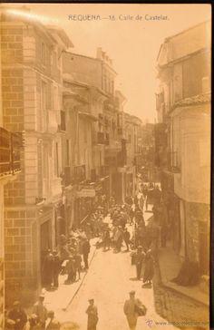 REQUENA - VALENCIA - CALLE DE CASTELAR - FOTOGRAFICA SIN CIRCULAR Y DORSO DIVIDIDO - Foto 1