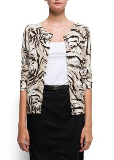 Mango Women's Animal Print Angora And Cotton Cardigan - All7, Beige, S MANGO. $29.99. 40% polyamide; 30% viscose; 25% cotton; 5% angora. Do not bleach, Ironing max 110°c / 230ºf, Dry cleaning perchloroethylene, Do not tumble dry, Hand washing max 30°c / 85ºf. Can't be combine with any other offer, discount or promotion. Shipping promotions still apply.