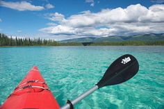 Photo by BC #guestagrammer @wildnorthphotos:  For my first time at Boya Lake Provincial Park this summer I went kayaking in the turquoise water. It was so peaceful and relaxing. The park has hiking trails that take you along the lake with amazing views and are really easy to hike. Located on the scenic Stewart-Cassiar Highway its well worth the trip getting there. Some people even call it the Caribbean of the North because of the waters beautiful turquoise colour. I can't wait to go back…