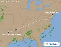 Real Time Flight Tracking from FlightView