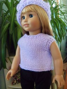 Ravelry: Project Gallery for Tank Top for American Girl Dolls pattern by Janet Longaphie