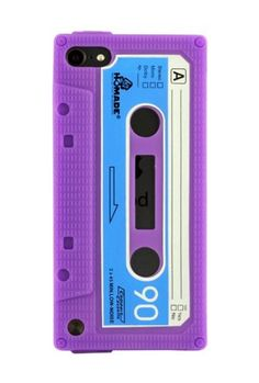 HHI Silicone Cassette Tape Case for iPod Touch 5th Generation - Purple (Package include a HandHelditems Sketch Stylus Pen):Amazon:MP3 Players & Accessories