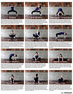 Easy to follow prenatal yoga/stretch routine. Print and pin up!