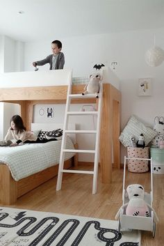 Детская комната в скандинавском стиле минимализм с белыми стенами. Как выбрать кровать для детской?