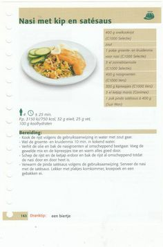 nasi met kip en satesaus