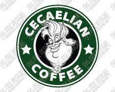 Little Mermaid Ursula Starbucks Logo Cut File Set in SVG, EPS, DXF, JPEG, and PNG