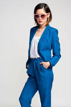 Something Else Clean Suit Jacket #blazer #blue #summer $185