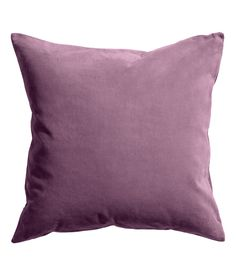 Velvet cushion cover: Cushion cover in cotton velvet with a concealed zip at the bottom. Velvet Cushions, Living Room Green, Home Living Room, Salons Cosy, Velvet Armchair, H&m Home, Cover Gray, Colour Pallete, Pillows
