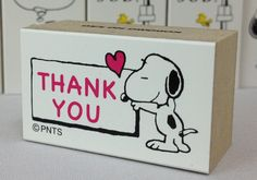 Snoopy Rubber Stamp THANK YOU  1 piece 2.4x4x2.2cm (0.94x1.57x0.86)