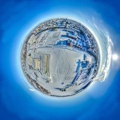 Planet Oulu - Little planet panorama from Oulu