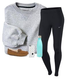 """ootn"" by ameliahinton ❤ liked on Polyvore featuring NIKE, S'well, UGG Australia, Casetify, women's clothing, women's fashion, women, female, woman and misses"