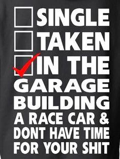Because Racecar Hoodie, Racing Hoodie, Garage Hoodie, Mustang, Camaro, Sportscar #GildanHanesFruitoftheLoom #Hoodie