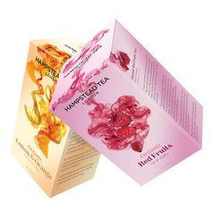 New range of premium zesty fruit teas for organic tea specialists Hampstead Tea.