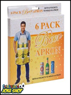 Look cool with this 6 Pack Beer Apron. Funny Office Jokes, Office Humour, Novelty Items, Novelty Gifts, Novelty Christmas Gifts, Funny Gifts For Her, Great Jokes, Work Colleague, Bottle Holders