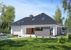 DOM.PL™ - Projekt domu ED E-142 CE - DOM ED1-42 - gotowy projekt domu
