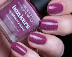 piCture pOlish Bonkers Picture Polish, Thing 1, Nail File, Cosmetology, Cute Nails, Swatch, Cool Designs, Nail Polish, Nail Art