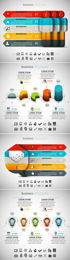 4 in 1 Business Infographic Templates PSD, Vector EPS, AI Illustrator Bundle. Download here: https://graphicriver.net/item/4-in-1-business-infographics-bundle/17068010?ref=ksioks