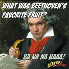 What was Beethoven's favorite fruit?  Ba Na Na Naaa! #kids #jokes