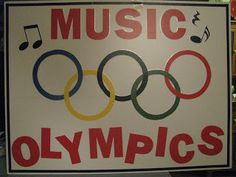 Music Olympic - week long summer camp theme idea. Super cute!