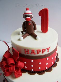 Sock Monkey Cake  By Tea Party Cakes CakesDecorcom
