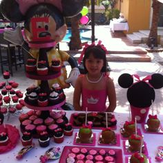 Mini Mouse Cake Table Table center to the right