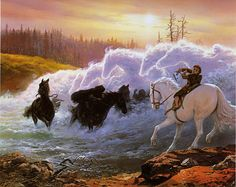 at the ford, by ted nasmith